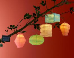 Solar-Lichterkette Lampions