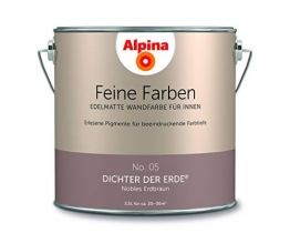 Alpina 2,5 L. Feine Farben, Farbwahl, Edelmatte Wandfarbe für Innen (No.05 Dichter der Erde) - 1