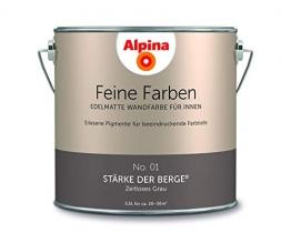 Alpina 2,5 L. Feine Farben, Farbwahl, Edelmatte Wandfarbe für Innen (No.1 Stärke der Berge - Zeitlos - 1