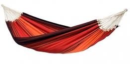 AMAZONAS XXL Komfort Hängematte Paradiso Terracotta handgefertigt in Brasilien 250cm x 175cm bis 200kg in Lavafarben - 1