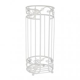 """axentia 122503 WC-Ersatzpapiertrollenhalter,""""Lyon"""", Toilettenpapierrollenhalter aus Metall, lackiert, Badaussattung, weiß, 15 x 15 x 37 cm - 1"""
