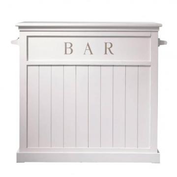 Barmöbel aus Holz, B 120cm, weiß