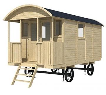Bauwagen LÖWENZAHN 240 x 500cm Gartenhaus 19mm Holzhaus Anhänger Blockhaus - 1