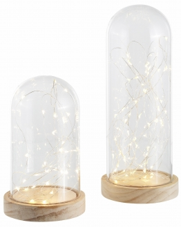 Beleuchtete Cloche transparent, yourhome