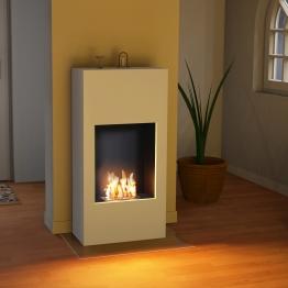 bergamo Simplico [Design Ethanolkamin]: Standkamin - weiß (warm)