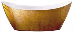Bernstein Badshop Freistehende Badewanne SIENA Acryl Gold 173 x 73 cm - Standbadewanne mit Blattgold-Oberfläche - 1