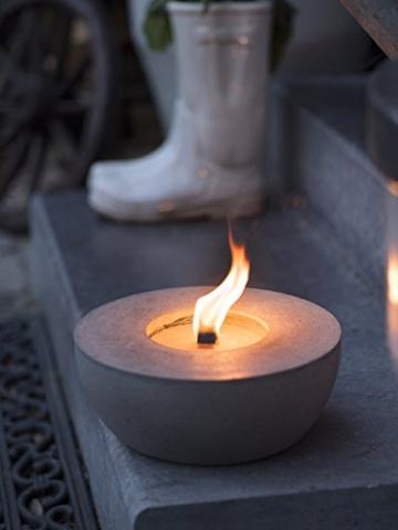 Beske-Betonfeuer mit 'Dauerdocht'   Durchmesser 24cm   Wiederbefüllbare Gartenfackel   'Unendliche' Brenndauer durch umweltfreundliches Recycling von Kerzenwachs - 3