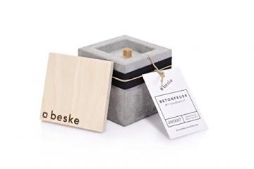 Beske-Betonfeuer mit 'Dauerdocht' | Größe 10x10x10 cm | Wiederbefüllbare Gartenfackel | 'Unendliche' Brenndauer durch umweltfreundliches Recycling von Kerzenwachs - 4