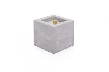 Beske-Betonfeuer mit 'Dauerdocht' | Größe 10x10x10 cm | Wiederbefüllbare Gartenfackel | 'Unendliche' Brenndauer durch umweltfreundliches Recycling von Kerzenwachs - 6