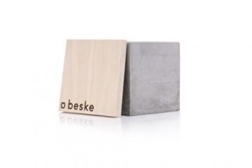 Beske-Betonfeuer mit 'Dauerdocht' | Größe 10x10x10 cm | Wiederbefüllbare Gartenfackel | 'Unendliche' Brenndauer durch umweltfreundliches Recycling von Kerzenwachs - 7