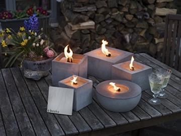 Beske-Betonfeuer mit 'Dauerdocht' | Größe 24x24x13 | Wiederbefüllbare Gartenfackel | 'Unendliche' Brenndauer durch umweltfreundliches Recycling von Kerzenwachs - 2