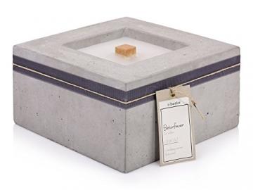 Beske-Betonfeuer mit 'Dauerdocht' | Größe 24x24x13 | Wiederbefüllbare Gartenfackel | 'Unendliche' Brenndauer durch umweltfreundliches Recycling von Kerzenwachs - 3