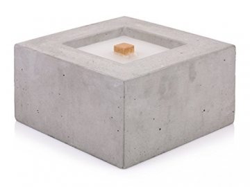Beske-Betonfeuer mit 'Dauerdocht' | Größe 24x24x13 | Wiederbefüllbare Gartenfackel | 'Unendliche' Brenndauer durch umweltfreundliches Recycling von Kerzenwachs - 5