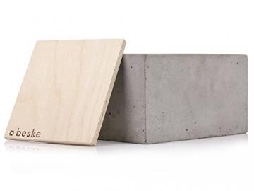 Beske-Betonfeuer mit 'Dauerdocht' | Größe 24x24x13 | Wiederbefüllbare Gartenfackel | 'Unendliche' Brenndauer durch umweltfreundliches Recycling von Kerzenwachs - 6