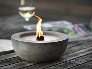 Beske-Betonfeuer mit 'Dauerdocht' | Ø 24cm mit großer Brennkammer | Wiederbefüllbare Gartenfackel | 'Unendliche' Brenndauer durch umweltfreundliches Recycling von Kerzenwachs - 2