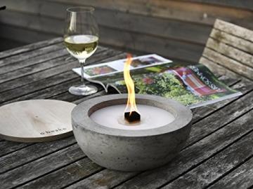 Beske-Betonfeuer mit 'Dauerdocht' | Ø 24cm mit großer Brennkammer | Wiederbefüllbare Gartenfackel | 'Unendliche' Brenndauer durch umweltfreundliches Recycling von Kerzenwachs - 1