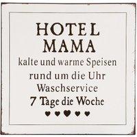 Blechschild HOTEL MAMA Vintage Retro Spruch Küche Nostalgie 30x30cm