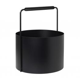Blomus - Ashi Feuerholzkorb - schwarz/pulverbeschichtet/H 45cm x Ø 35cm