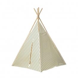 Bloomingville - Children's Tipi Kinderzelt - grün/Holzstäbe/LxBxH 130x130x160cm
