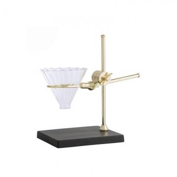 Bloomingville - Coffee Drip Stand Kaffeemaschine - gold/schwarz/transparent/LxBxH 18x14x27cm