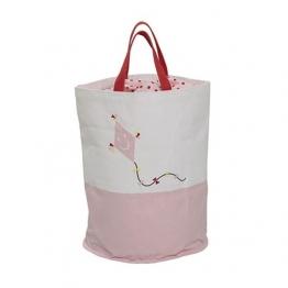 Bloomingville - Drago Aufbewahrungstasche für Kinder - rosa/weiß/Ø40xH50 cm