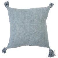 Bloomingville - Leinen-Kissen 50 x 50 cm, hellblau