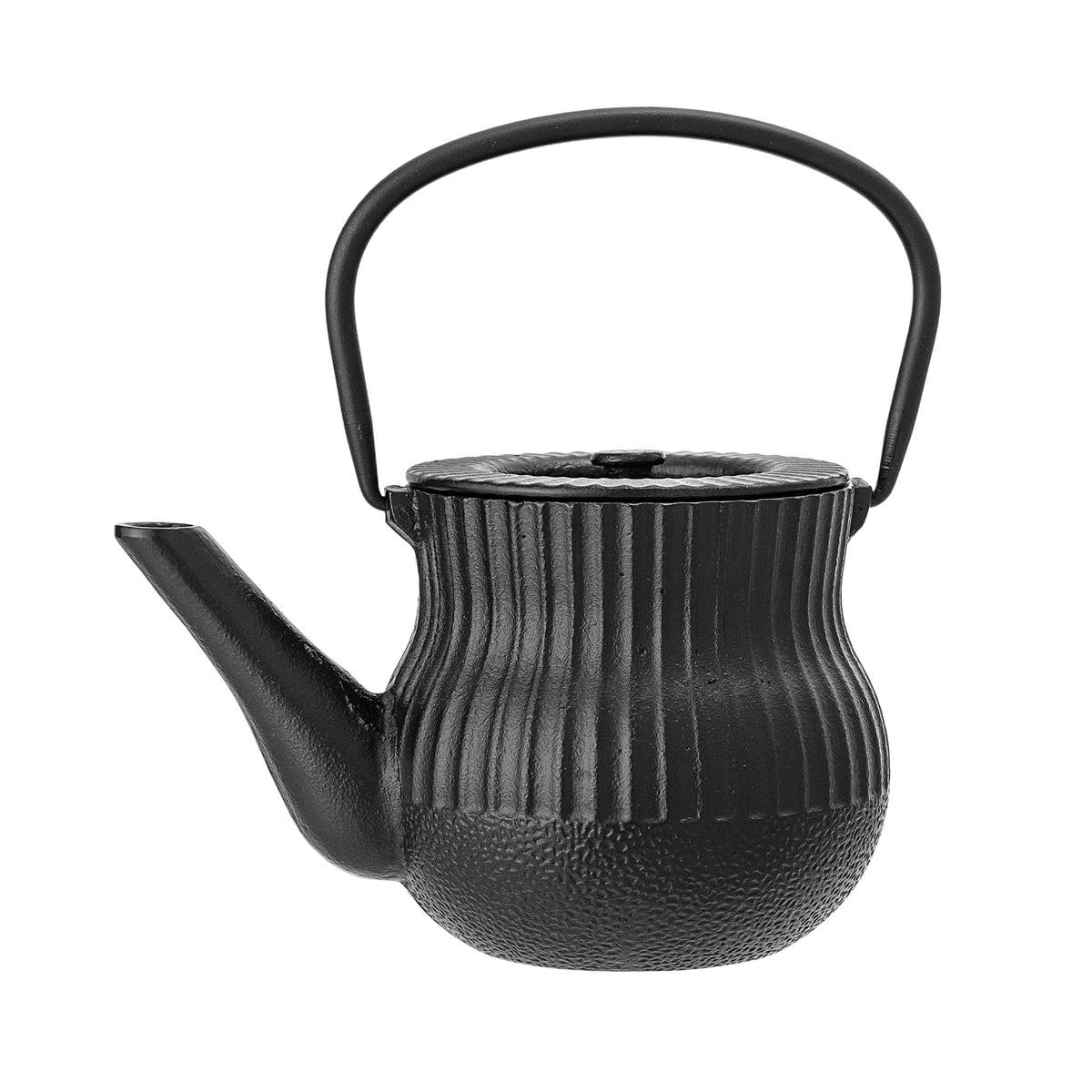 Bloomingville - Teekanne, Ø 13 x H 12 cm, schwarz