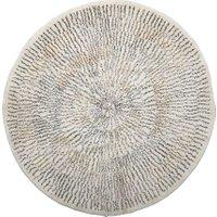 Bloomingville - Teppich mit Streifen, Ø 120 cm, beige