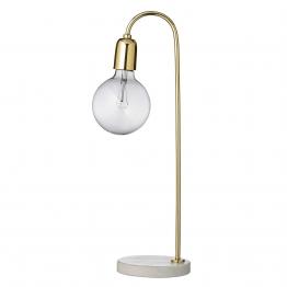 Bloomingville Tischleuchte Marmor/Messing - gold/grau/Ø15 x H:55cm