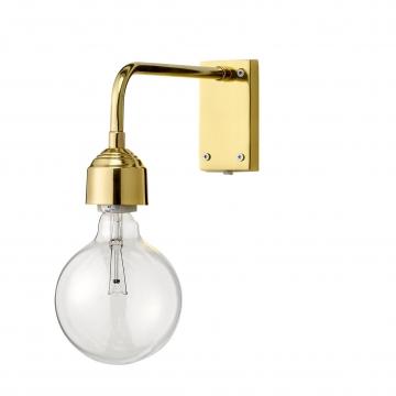 Bloomingville Wandleuchte H:13cm - gold/mit Schalter am durchsichtigem Kabel/ohne Leuchtmittel