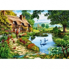 Bluebird Puzzle Cottage by the Lake 1000 Teile Puzzle Bluebird-Puzzle-70315-P