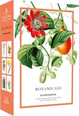 Botanicals. 60 Postkarten mit seltenen Motiven aus den Archiven des New York Botanical Garden: Hochwertige Kartonschachtel mit Deckel, 60 Postkarten, ... mit Motivdruck, Rückseite mit Adresslinien - 1