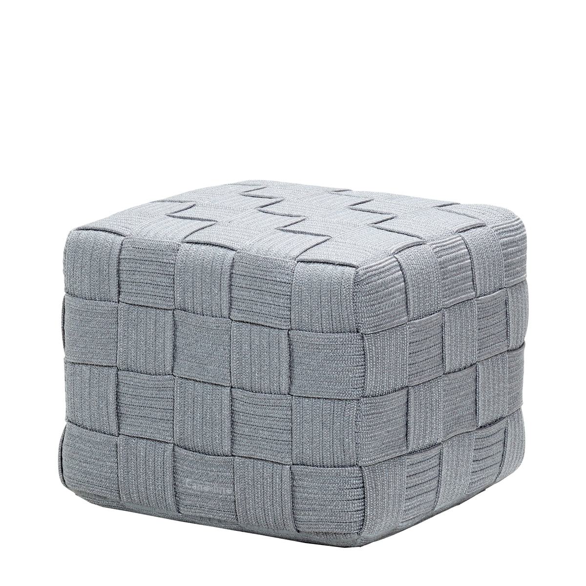 Cane-line - Cube Hocker (8340), hellgrau