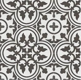 Casa Moro Mediterrane Keramikfliesen orientalisch Flavie Blanc 20x20 cm 1 qm Feinsteinzeug in Zementoptik frostsicher | Bodenfliesen Wandfliesen für schöne Küche Flur Badezimmer | FL7003 - 1