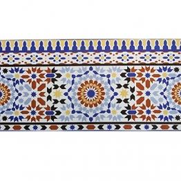 Casa Moro Orientalische Fliesen-Bordüre Kenitra 50x25 cm aus Marokko mit Mosaik-Muster | Schöne Wandfliese im Bad Flur & Küche | FL7286 - 1