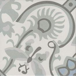 Casa Moro Orientalische Fliesen Ranja 20 x 20 cm 1 qm aus glasiertem Feinsteinzeug in Zementoptik | Bodenfliesen & Wandfliesen als Wand-Dekoration für schöne Küche Flur & Badezimmer | FL7022 - 1