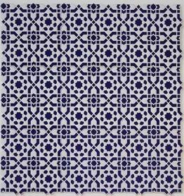 Casa Moro Orientalische Relief-Fliesen Istanbul 25x25 cm blau weiß 1 qm | Vintage Wandfliesen für schöne Küche Flur Bad & Küchenrückwand | FL7000 - 1