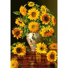 Castorland Sunflowers in a Peacock Vase 1000 Teile Puzzle Castorland-103843