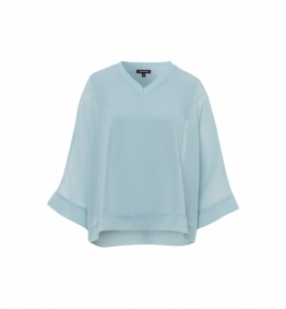 Chiffonbluse, powder mint