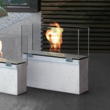 Conmoto - Muro Feuerstelle - grau/transparent/H70cm