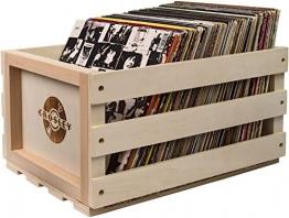Crosley Plattenkiste für ca. 75 Schallplatten, Natural - 1
