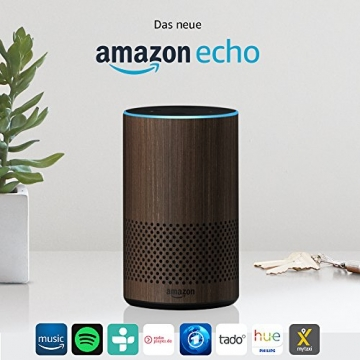 Das neue Amazon Echo (2. Generation), Nuss Optik - 2