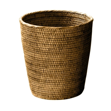 Decor Walther - Basket PK Papierkorb Rattan - rattan dunkel/H 33cm / Ø 30cm