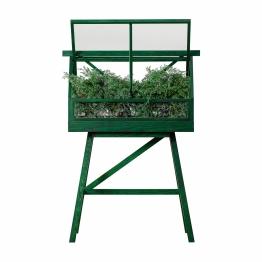 Design House Stockholm - Greenhouse Gewächshaus - grün/gebeizt/BxHxT 95x135x40cm/Nur für den Innenbereich geeignet!