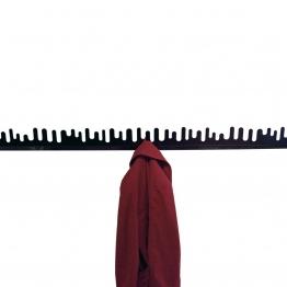 DesignHouseStockholm - Wave Garderobe Set 2 Stück - schwarz/lackiert