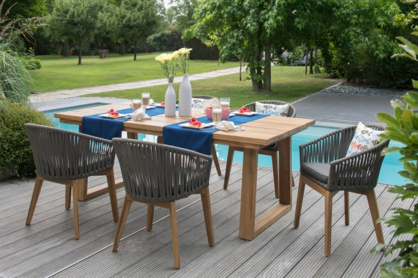 Dininggruppe Webster Rope Teak - KOMPLETTSET