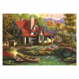 Dino Cottage by the Lake 500 Teile Puzzle Dino-50251