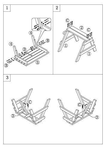 dobar Praktische Garten Sitzbank 2 in 1 Kombination aus Tisch und Bank FSC-Holz, Sitzgarnitur, Hellbraun, 138 x 144 x 77 cm - 13