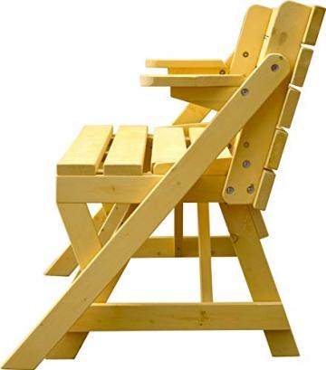 dobar Praktische Garten Sitzbank 2 in 1 Kombination aus Tisch und Bank FSC-Holz, Sitzgarnitur, Hellbraun, 138 x 144 x 77 cm - 3