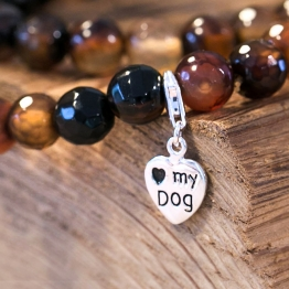 ♥ my Dog Charm aus Sterling Silber